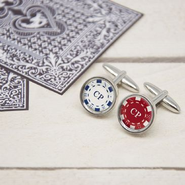 Full House Poker Chip Cufflinks